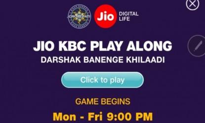 Jio associates KBC TV show | MyTelangana com